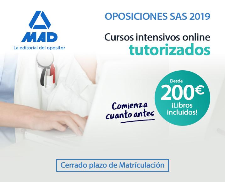 Curso online tutorizado - Oposiciones SAS 2019